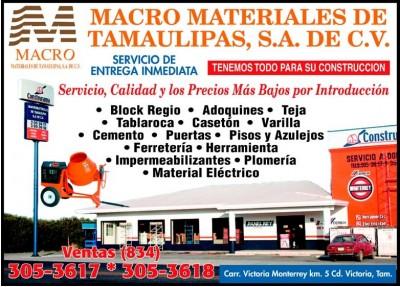 Macro materiales de tamaulipas for Caseton puerta corredera precios